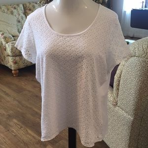 Jaclyn Smith lace front tee
